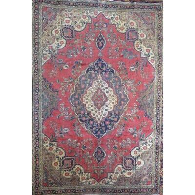 Persian Tabriz Vintage Persian Rug 8'7