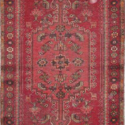 Persian Hamedan Vintage Persian Rug 6'2