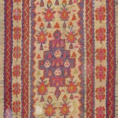 Persian Seneh, Vintage Kilim 3'0
