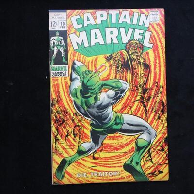 Captain Marvel #10 (1969,Marvel)  5.5 FN-