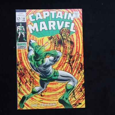 Captain Marvel #10 (1969,Marvel)  7.0 FN/VF