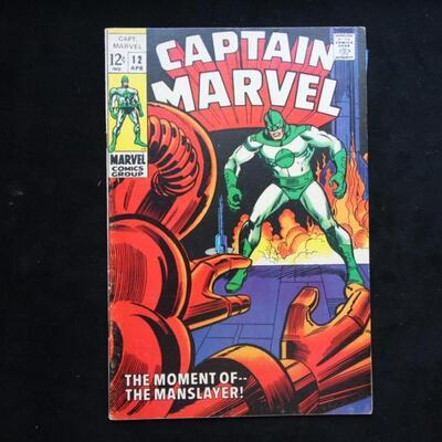 Captain Marvel #12 (1969,Marvel)  6.0 FN