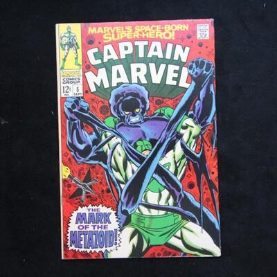 Captain Marvel #5 (1968,Marvel)  6.5 FN+