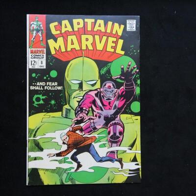 Captain Marvel #8 (1969,Marvel)  8.5 VF+