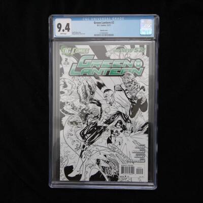 Green Lantern Sketch Variant #2 (2011,DC) CGC 9.4 NM