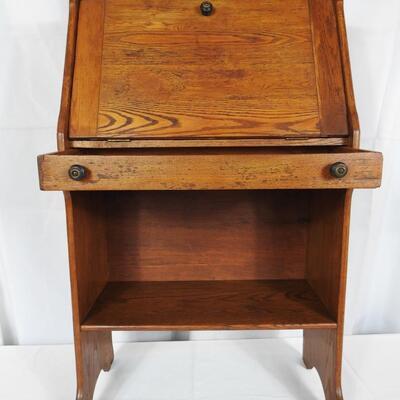 Small  Childs Oak Secretary Desk