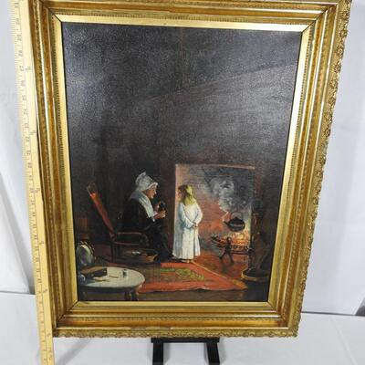 Turn of the Century Oil on board