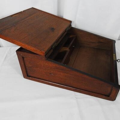 Antique Mahogany Counter Slant Top Desk