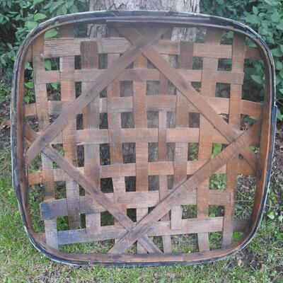 Very Large Oak  Mid 1800 s Kentucky Tobacco Basket