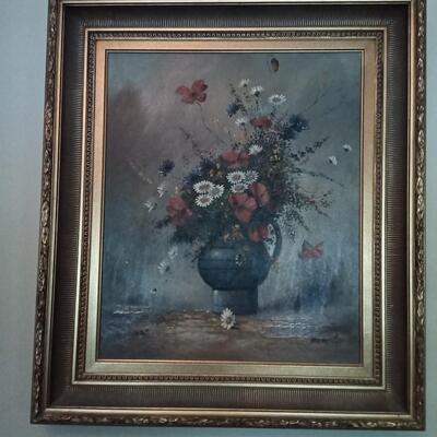Paitings of Flowers in Vase