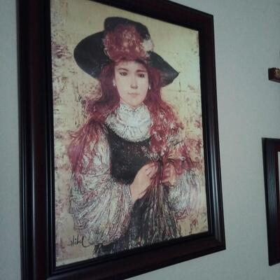 Large Painting of Girl by