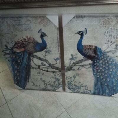 Prints of Pair of Peacocks