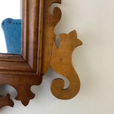 101 Antique Chippendale Potthast Birds Eye Maple Mirror