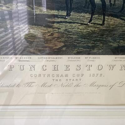 105 Antique Punchestown Engraving by E.G. Hester