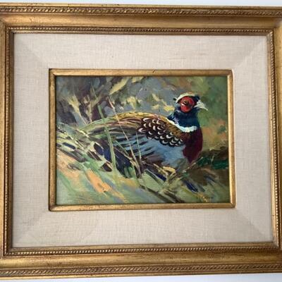 "117 Original Oil by Stephen C. Elliott ""Spring Pheasant Study"""