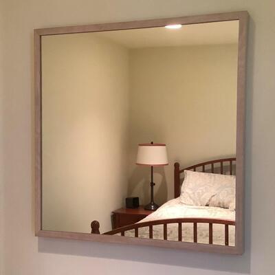 123 IKEA Wood Framed Hanging Wall Mirror