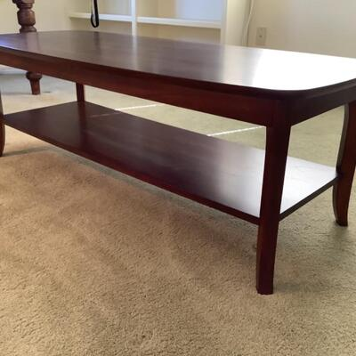 130 Tropical Wood Two Tier Coffee Table