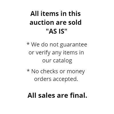 GENERAL AUCTION INFORMATION [N.S.L.]
