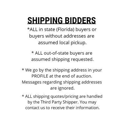 SHIPPING BIDDER INFORMATION [N.S.L.]
