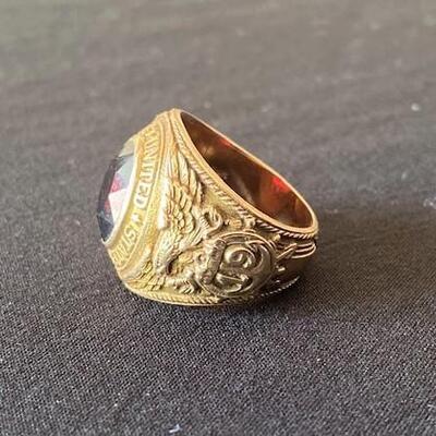 LOT#3J:Stamped Balfour 10K, 1942 Naval Reserve Ring [17.01g]