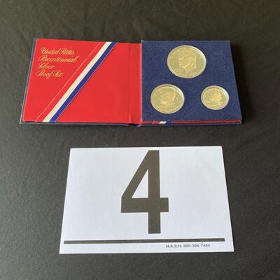 LOT#4J: 1976 Bicentennial Silver Proof Set Lot #1 (40% Silver)