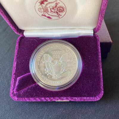 LOT#5J: 1986 Silver American Eagle Proof .999 Silver Lot #1