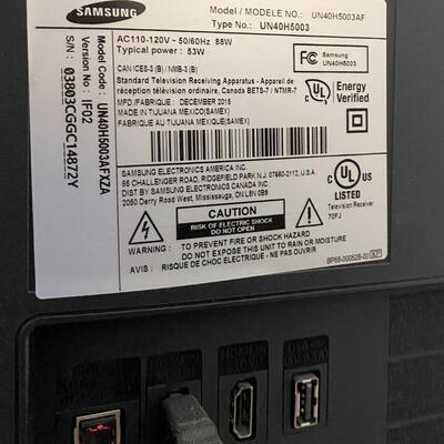 LOT#10MB: Samsung Model UN40H5003AF