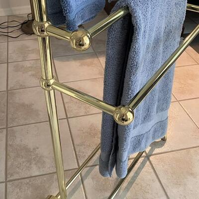LOT#15MB: Heavy Brass Quilt/Towel Rack