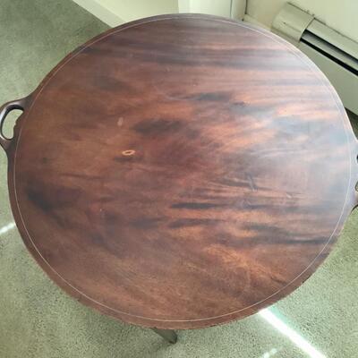 129  Vintage Two Tier Tray Top Mahogany Table