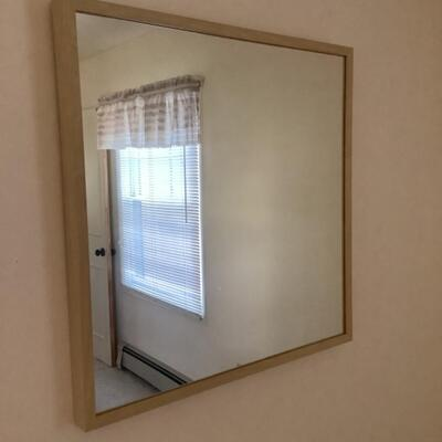 132 IKEA  Four Drawer Woodgrain Formica Dresser & mirror