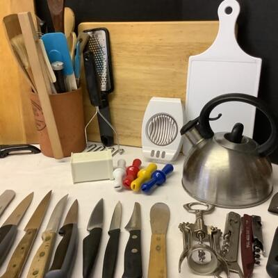 215  Kitchen Knives / Cutting Boards & More