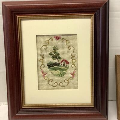 219. Pair of Framed Decorative Items