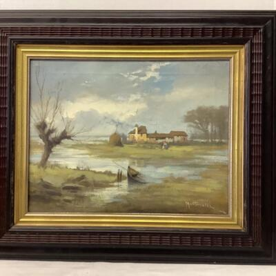 224. Signed Oil Landscape Painting on Canvas by Martinelli
