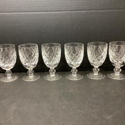 228  Set of Six Waterford Crystal Glasses