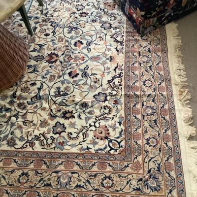 230  Antique Oriental White Tabriz Rug ( 8' x 10' )