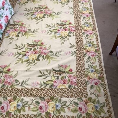 238. Needlepoint Floral Rug