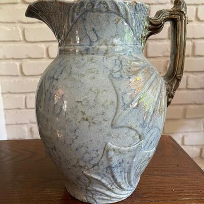 LOT 4 - RARE, Colonial, Blue Ewer Pitcher, Roseville Pottery, early 1900s