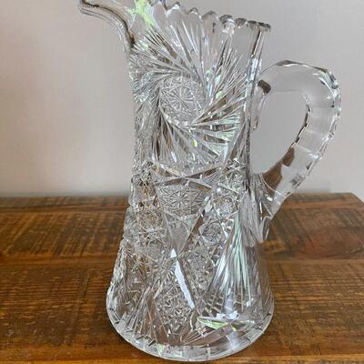 LOT 9 - J.D Bergen GOLF, American Cut Glass, Pitcher
