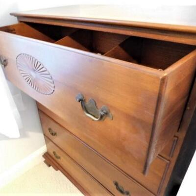 Nice Vintage Solid Cherry Chest of Drawers by Mabry Mills Mount Airy
