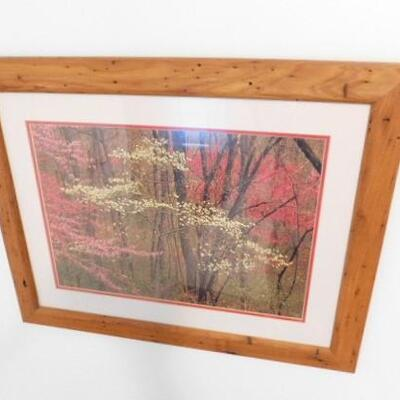 Chestnut Wood Frame Picture Wall Deor Signed and Limited Series