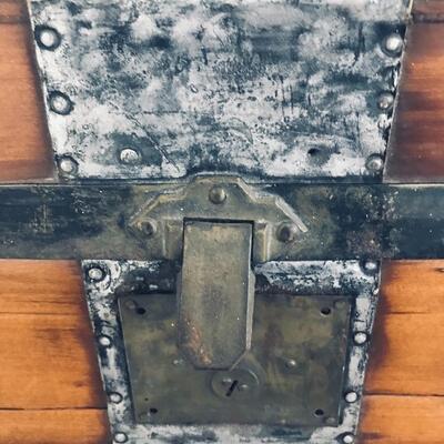 Lot 108: Antique Steamer Trunk