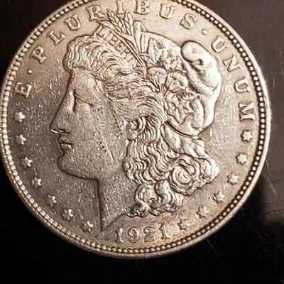 1921 P Morgan Silver dollar  Nice coin .