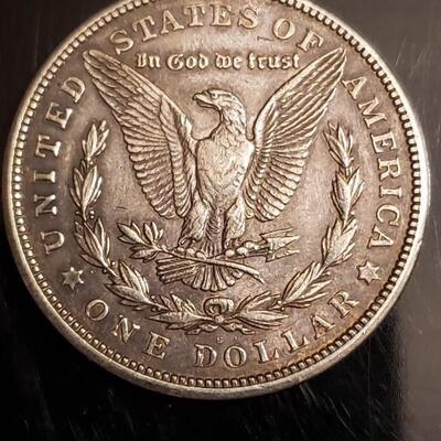 1921 S morgan silver dollar Decent coin .