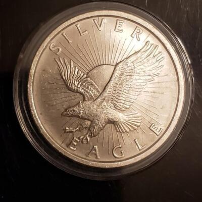1 oz silver round BU encapsulated