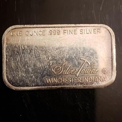 1 oz vintage Nevada silver Town bar Rare