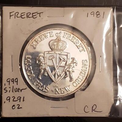 1981 silver coin BU Rare