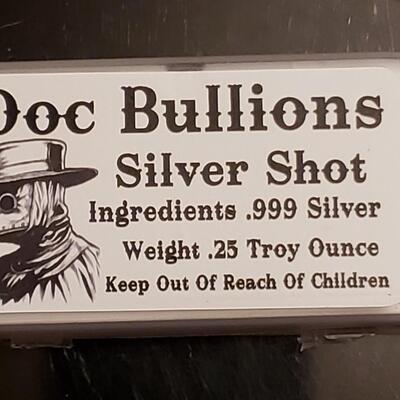 Dr Bullion silver shot 999 silver