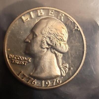 BU silver Bicentennial  quater