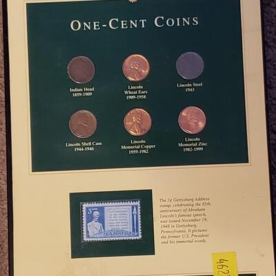 1 c coins & stamp collection .Rare penny,s