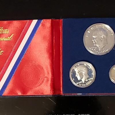 Bicentenial  90 % silver coin set All 3 coins are silver